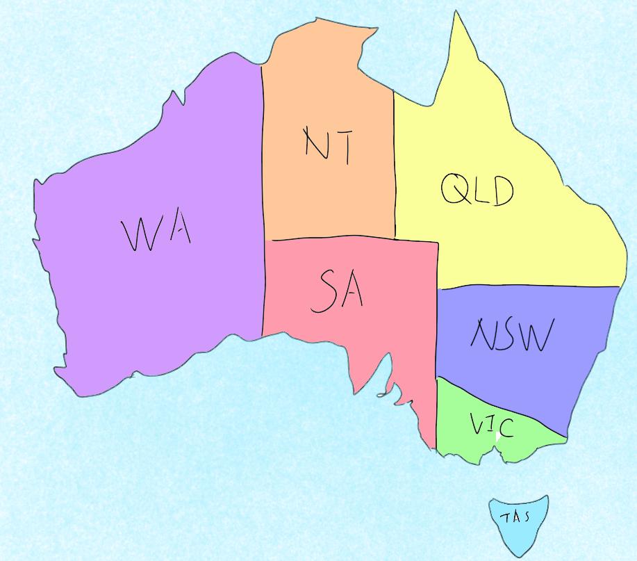 WA/NSW/QLD/SA/NT/VIC/TAS