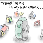 Put travel items in my backpack...